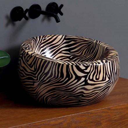 Lavaman banjo moderne rrethore në qeramikë të bërë në Itali Elisa