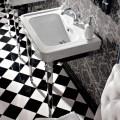 Console Washbasin 65 cm në Qeramikë me këmbë metalike, Stil Vintage - Marwa