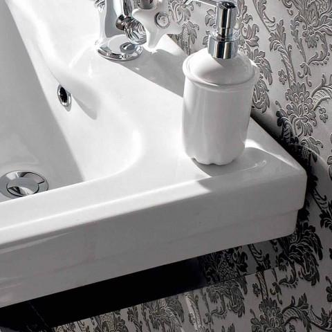 Larje tastiere L 65 cm në qeramikë me këmbë metalike, stil i cilësisë së mirë - Marwa