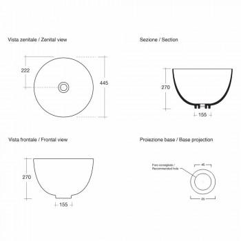 Lavaman Countertop Moderne Qeramike Prodhuar në Itali - Domenico
