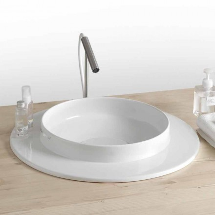 Countertop Countertop Washbasin në Ceramic Colored Colored Made in Italy - Voltino