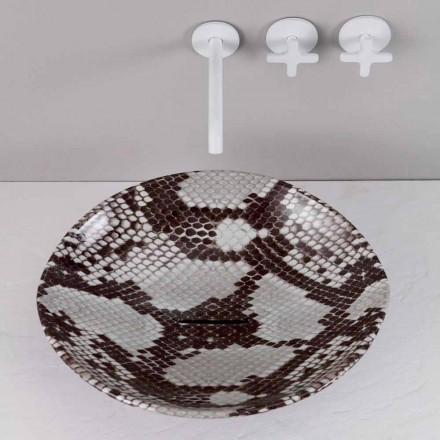 Mbytet moderne të qeramikës së countertopit Kafshët, model kobra, të bëra në Itali