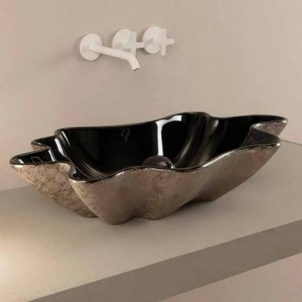 Pellguri countertop i zi dhe argjendi Rayan, i bërë në Itali, dizajn modern