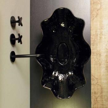 Lavaman countertop në dizajn qeramik të zi dhe ari të bërë në Itali Cubo