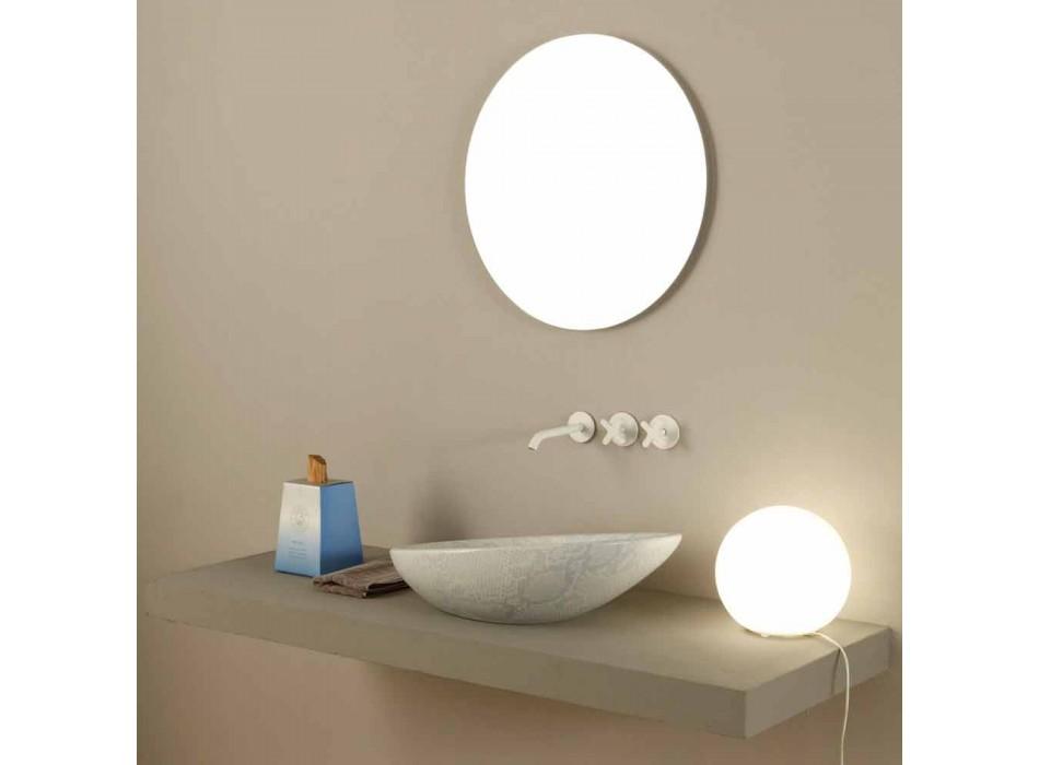 Larja e bardhë e pllakave me pllaka qeramike e bërë në Itali me shkëlqim