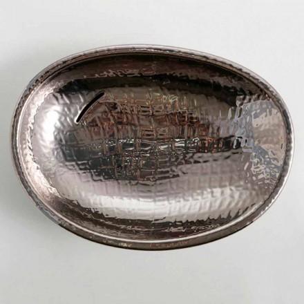 Pellgu argjendi qeramike countertop me shkëlqim, dizajn modern i bërë në Itali