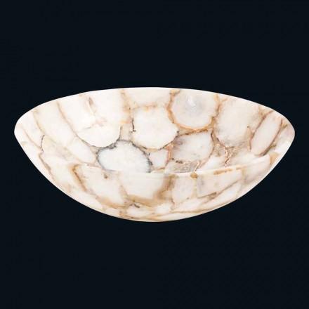 Dizajn banjoje countertop bërë prej guri kristalor, Poncho