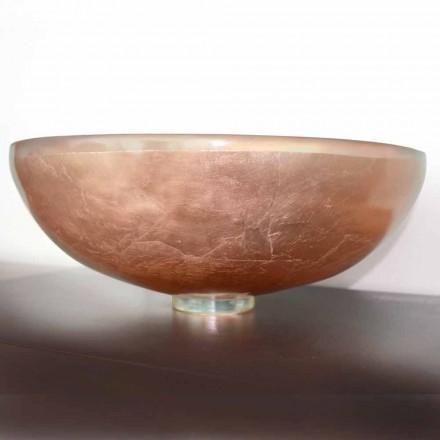 Projektoni lavamanin e countertopit në rrëshirë transparente dhe bakër - Salvatore