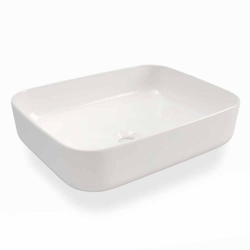 Countertop Washbasin Design Design Modern në Qeramikë të Bardhë të bërë në Itali - Turku