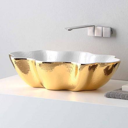 Lavaman banjo me pllaka qeramike të dizajnit modern bërë në Itali Cubo