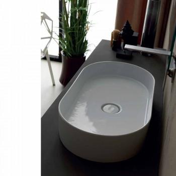 Larja e banjës së banjës me dizajn modern Dielli e bëri Italinë 65x35 cm