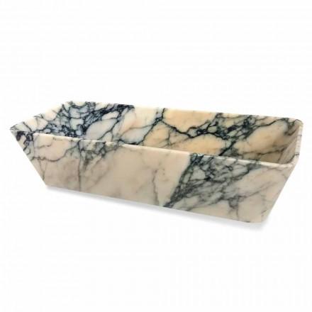 Lavaman Countertop në Projektimin në Katror Mermer Paonazzo Prodhuar në Itali - Karpa