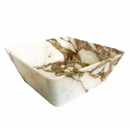 Lavaman Countertop Modern në Mermer Calacatta Dizajn Made in Italy - Kuore