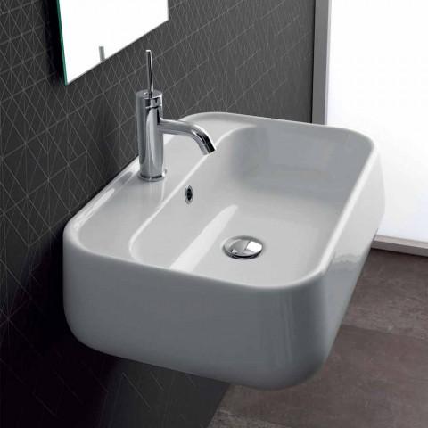 Washbasin Modern Countertop në Qeramikë me ngjyra Oliena