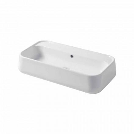 Countertop modern ose lavaman i montuar në mur në Oliena qeramike me ngjyrë