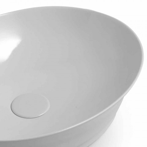 Countertop Oval Design Moderne Lavaman Qeramike Made in Italy - Zarro