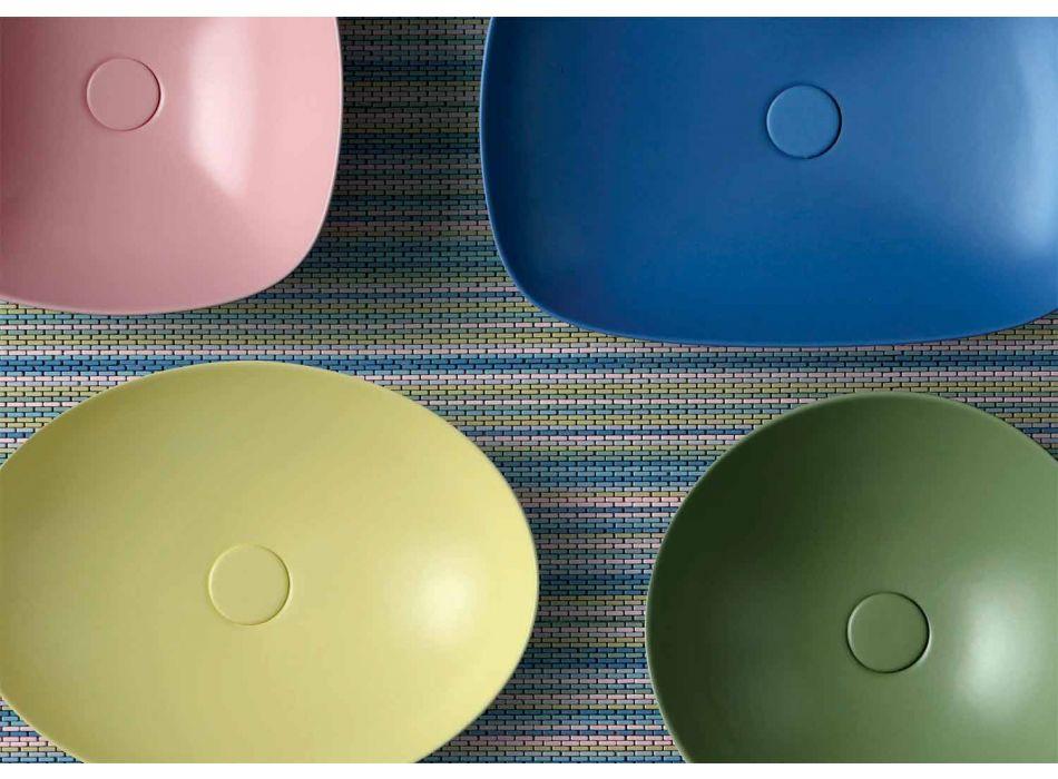 Countertop Oval Design Moderne Lavaman Qeramike Made in Italy - Zarro