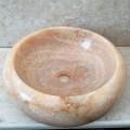 Countertop pellgu Arlie në gur oniks, lavaman i punuar me dorë një-i-një-lloji