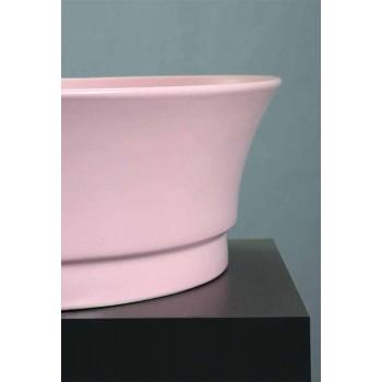 Dizajn i rrumbullakët me banjë countertop në Qeramikë Made in Italy - Zarro