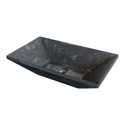 Mbajtës i lavamanit Wok countertop natyrale prej guri të zi