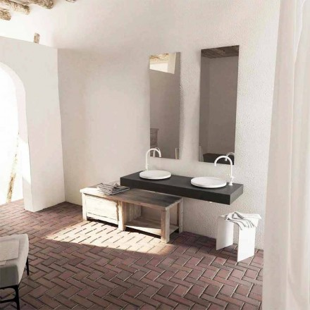 Dizajni modern i rrumbullakët për banjën e banjës Crema, bërë në Itali