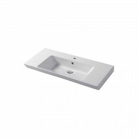 Countertop ose lavamani i mureve në Maida të bardhë ose me ngjyrë qeramike
