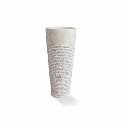 Lavaman i pavarur me kolona moderne në mermer të bardhë - Merlo