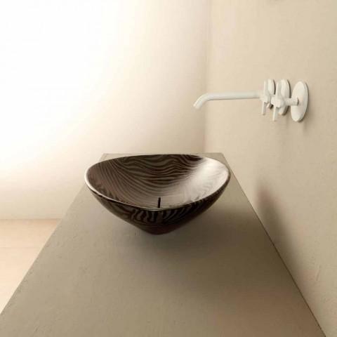 Larja e banjës së banjës countertop e dizajnit zebër të zi e bërë në Itali Kafshët