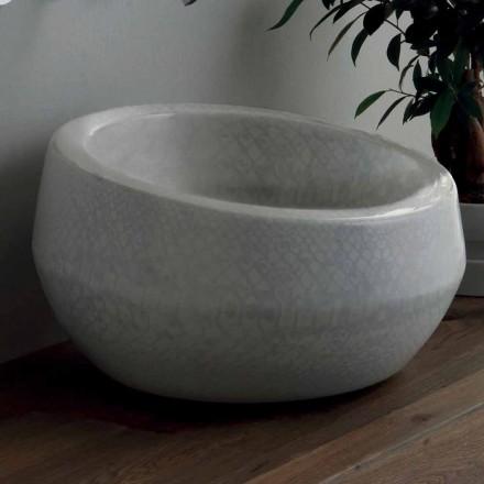 Dizajn pastrues countertop në qeramikë python bërë në Itali Elisa