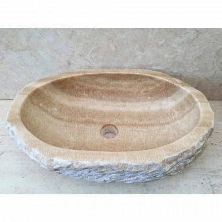 Mbulesa banjoje me banjë guri natyror Laia