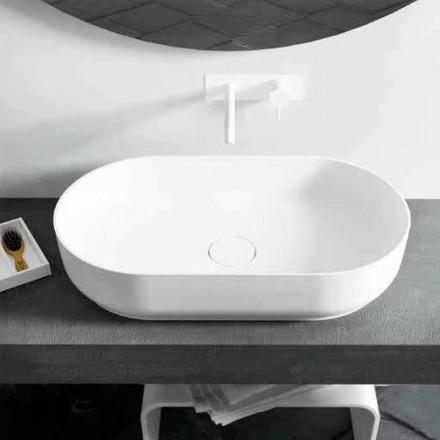Dizajni modern i lavamanit me banjë të verdhë Dalmine Big, e bërë në Itali