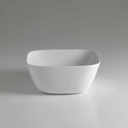 Made in Italy Design Square Countertop Qeramike Washbasin - Sonne