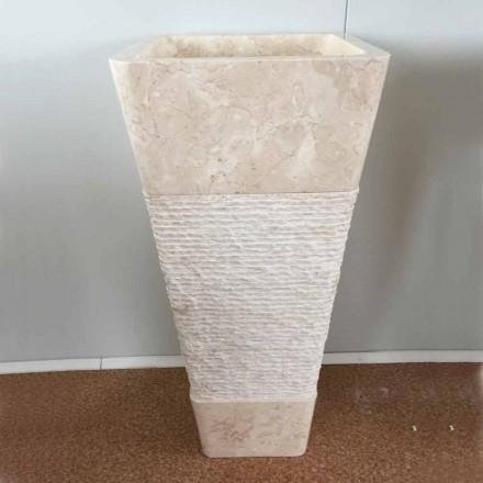 Lavaman i pavarur me gurë të bardhë natyror Robin, një dizajn unik