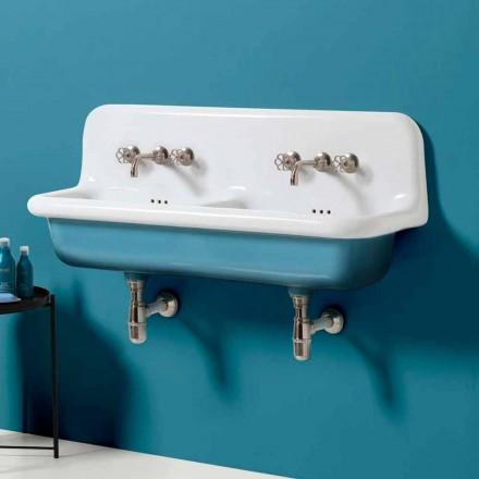 Larje lavatriçe me tas të dyfishtë të cilësisë së mirë me mur