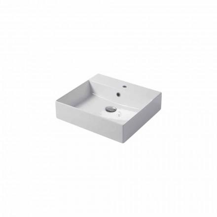 Countertop me një vrimë ose lavaman i montuar në mur në qeramikën me ngjyrë Leivi