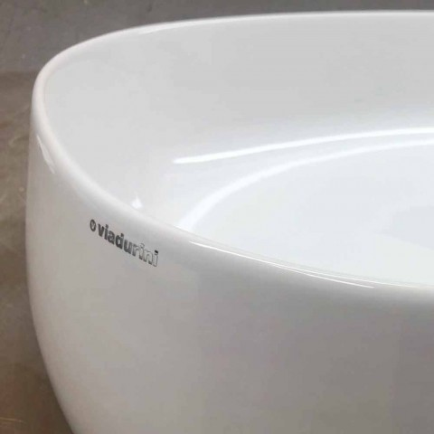 Countertop ovale Washbasin L 50 cm në Qeramikë Made in Italy - Cordino