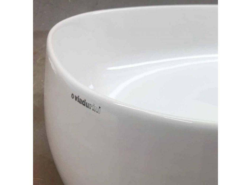 Countertop ovale Washbasin L 50 cm në Qeramikë Made in Italy - Cordino