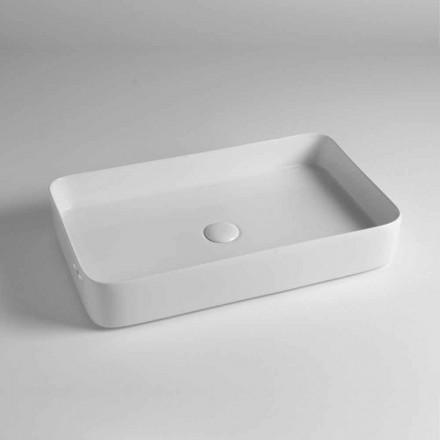 Washertë drejtkëndëshe drejtkëndëshe në qeramikë me ngjyra të prodhuar në Itali - Dabel