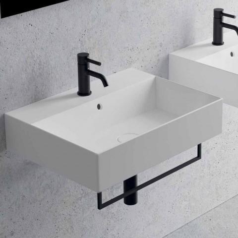 Countertop drejtkëndëshe ose lavaman qeramik i varur në mur, dizajni 3 madhësi - Malvina