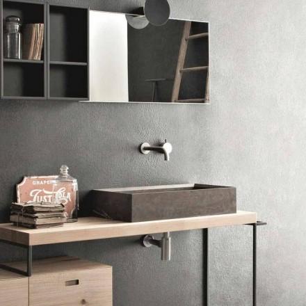 Lavaman i countertop drejtkëndëshe dhe moderne në gurin e dizajnit - Farartlav3