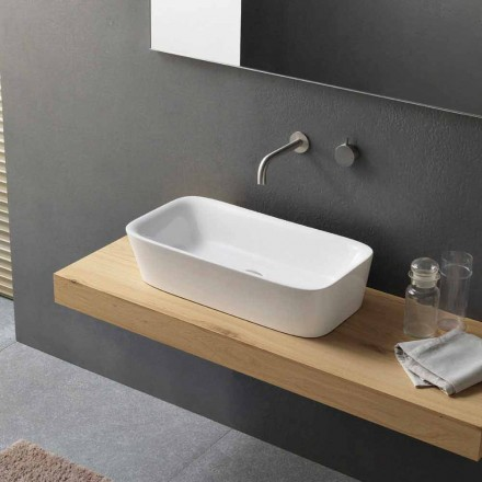 Lavaman modern i countertop drejtkëndëshe në projektin qeramik - Lipperialav1