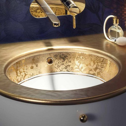 Undertop lavaman në argjilën e zjarrit dhe 24 karat ari të punuar me dorë në Itali, Egeo
