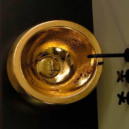 Raundi i rrumbullakët me qeramikë countertop të rrumbullakët ari Elisa, i bërë në Itali