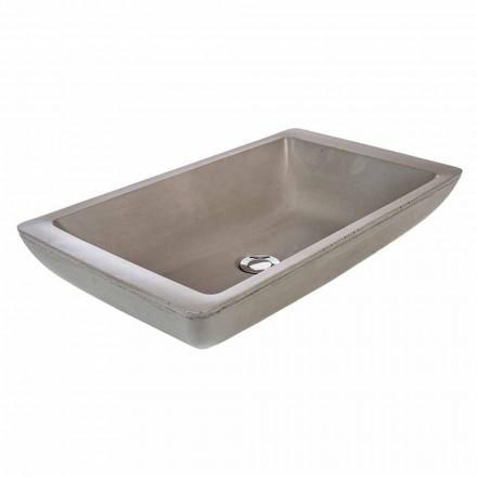 Larje banje countertop countertop me dorë në çimento Rivoli
