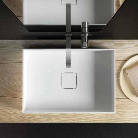 Mbytet me banjë countertop moderne, të prodhuara 100% në Itali, Lavis