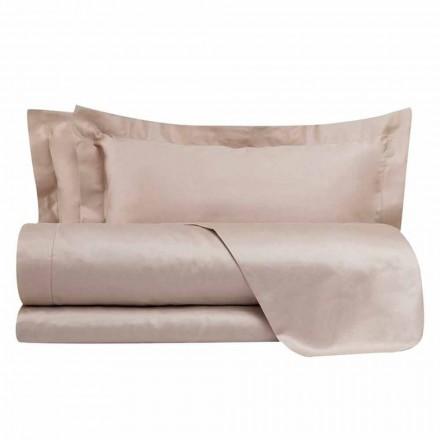 Fletët prej pambuku prej pambuku të vendosura për ngjyrën e ngurtë të krevateve dyshe - Freesia