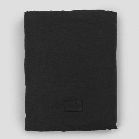 Çarçafë dyshe me kënde në liri të zezë, gjalpë ose Gesso të vjetër - Fiumano