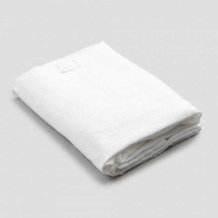 Fletë e Bardhë e pajisur për krevat dopio, dizajn luksoz prodhuar në Itali - Fiumano