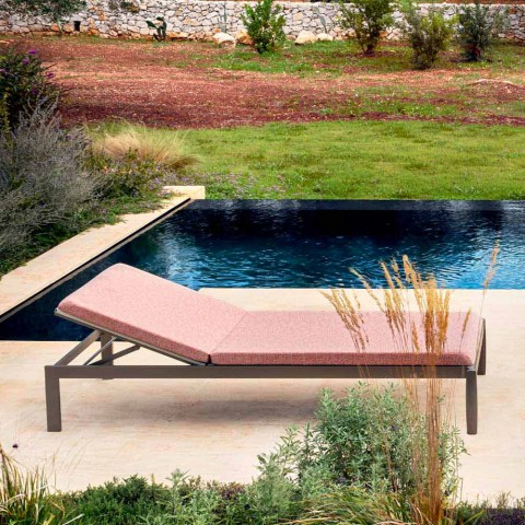 Shezlong në kopsht Longue me ose pa dyshek në 3 përfundime - Filomenalet