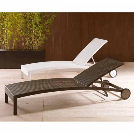 Rregullueshme karrige kopshti longue me rrota Sun Bed